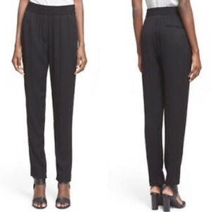 3.1 Phillip Lim 100% Silk Black Tapered Pants